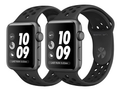 Apple Watch Nike+ Series 3 (GPS) - 42 mm - Weltraum grau Aluminium