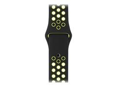 Apple 38mm Sport Band - Small/Medium & Medium/Large - Uhrarmband - 130 - 200 mm - schwarz/Volt - für Watch (38 mm)