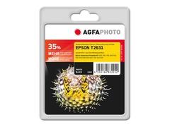 AgfaPhoto 12 ml - Photo schwarz - Blisterverpackung - wiederaufbereitet - Tintenpatrone (Alternative zu: Epson T2631, Epson 26XL, Epson C13T26314010)