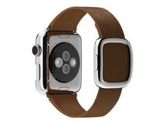 Apple 38mm Modern Buckle - Größe L - Uhrarmband - braun - für Watch (38 mm)