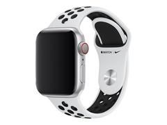 Apple 40mm Nike Sport Band - Uhrarmband - 130-200 mm - Schwarz, reines Platin - Demo - für Watch (38 mm, 40 mm)