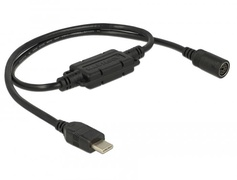 Navilock 62879 - USB 2.0 C - MD6 - Male connector / Female connector - 0,52 m - Schwarz