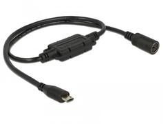 Navilock 62877 - USB Micro B - MD6 - Male connector / Female connector - 0,52 m - Schwarz