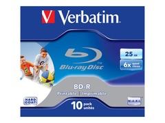 Verbatim 10 x BD-R - 25 GB 6x - bedruckbare Oberfläche - Jewel Case (Schachtel)