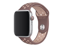 Apple 44mm Nike Sport Band - Uhrarmband - 140-210 mm - smokey mauve/particle beige - für Watch (38 mm, 40 mm, 42 mm, 44 mm)