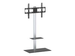 """celexon Economy Adjust-2350P - Aufstellung für flat panel - Glas, lackierter Stahl - Schwarz, Silber - Bildschirmgröße: 58-127 cm (23""""-50"""")"""