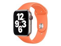 Apple 44mm Sport Band - Uhrarmband für Smartwatch - Normalgröße - Kumquat - Demo - für Watch (42 mm, 44 mm)