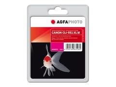 AgfaPhoto 11 ml - Magenta - wiederaufbereitet - Tintenpatrone (Alternative zu: Canon CLI-551M XL, Canon 6445B001)