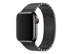 Apple 38mm Link Bracelet - Uhrarmband für Smartwatch - 135 - 195 mm - Space Black - Demo - für Watch (38 mm, 40 mm)