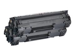 AgfaPhoto 2er-Pack - Schwarz - Tonerpatrone (Alternative zu: HP 78A, HP CE278A, Canon 3483B002, Canon EP-726, HP CE278AD)