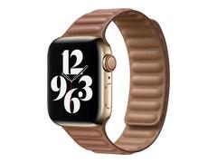 Apple 40mm Leather Link - Uhrarmband für Smartwatch - Größe M/L - Saddle Brown - für Watch (38 mm, 40 mm)