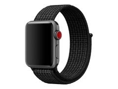 Apple 38mm Nike Sport Loop - Uhrarmband - 130-190 mm - Schwarz, reines Platin - für Watch (38 mm)