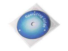 Durable POCKETFIX - CD/DVD-Hülle - Kapazität: 1 CD/DVD - durchsichtig (Packung mit 100)