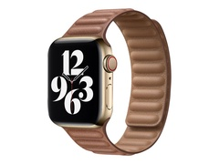 Apple 40mm Leather Link - Uhrarmband für Smartwatch - Größe M/L - Saddle Brown - Demo - für Watch (38 mm, 40 mm)