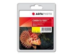 AgfaPhoto 10.5 ml - Gelb - Tintenpatrone (Alternative zu: Canon CLI-526Y, Canon 4543B001)