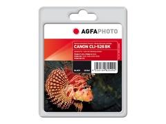 AgfaPhoto 10.5 ml - Schwarz - Tintenpatrone (Alternative zu: Canon CLI-526BK, Canon 4540B001)