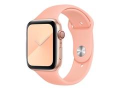 Apple 44mm Sport Band - Uhrarmband für Smartwatch - 140 - 210 mm - Grapefruit - für Watch (42 mm, 44 mm)