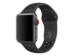 Apple 38mm Nike Sport Band - Uhrarmband für Smartwatch - Größe S/M & M/L - Anthrazit/schwarz - Demo - für Watch (38 mm, 40 mm)