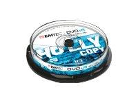 EMTEC 10 x DVD+R - 4.7 GB (120 Min.) 16x - Silber