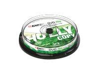 EMTEC 10 x DVD-RW - 4.7 GB (120 Min.) 1x - 4x