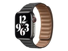 Apple 40mm Leather Link - Uhrarmband für Smartwatch - Größe M/L - Schwarz - für Watch (38 mm, 40 mm)