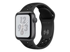 """Apple Watch Nike+ Series 4 (GPS) - 40 mm - Weltraum grau Aluminium - intelligente Uhr mit Nike Sportband - Flouroelastomer - anthrazit/schwarz - Bandgröße 130-200 mm - Anzeige 4 cm (1.57"""")"""