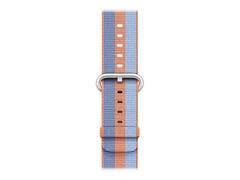 Apple 42mm Woven Nylon Band - Uhrarmband - 145 - 215 mm - orange - für Watch (42 mm, 44 mm)