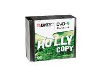 EMTEC 10 x DVD-R - 4.7 GB (120 Min.) 16x - Silber