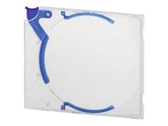Durable QUICKFLIP Standard - Flaches Jewel-Case für CD/DVD-Aufbewahrung - Kapazität: 1 CD/DVD - Blau (Packung mit 10)