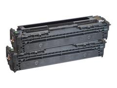 AgfaPhoto 2er-Pack - Schwarz - Tonerpatrone (Alternative zu: HP CB540A, HP 125A, Canon 716BK, HP CB540AD)