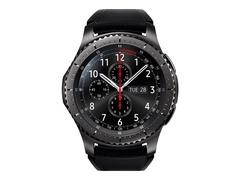 """Samsung Gear S3 Frontier - 46 mm - schwarz - intelligente Uhr mit Band - Silikon - schwarz - Anzeige 3.3 cm (1.3"""")"""