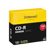 Intenso 10 x CD-R - 700 MB (80 Min) 52x - mit Tintenstrahldrucker bedruckbare Oberfläche