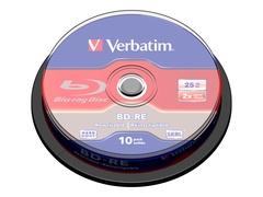 Verbatim 10 x BD-RE - 25 GB 2x - Spindel
