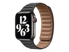 Apple 40mm Leather Link - Uhrarmband für Smartwatch - Größe S/M - Schwarz - für Watch (38 mm, 40 mm, 41 mm)