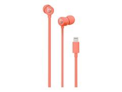 Apple urBeats3 - Ohrhörer mit Mikrofon - im Ohr - kabelgebunden - Lightning - Geräuschisolierung - korallefarben - für iPad/iPhone/iPod (Lightning)