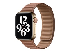 Apple 40mm Leather Link - Uhrarmband für Smartwatch - Größe S/M - Saddle Brown - für Watch (38 mm, 40 mm)