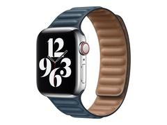 Apple 40mm Leather Link - Uhrarmband für Smartwatch - Größe S/M - Baltic Blue - für Watch (38 mm, 40 mm)