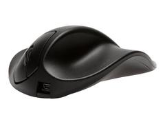 Hippus HandShoeMouse Right Large - Maus - Für Rechtshänder - Laser - 3 Tasten - kabellos - kabelloser Empfänger (USB)