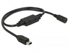Navilock 62878 - USB 2.0 Mini B - MD6 - Male connector / Female connector - 0,52 m - Schwarz