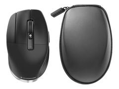 3Dconnexion CadMouse Pro Wireless Left - Maus - ergonomisch - Für Linkshänder - 7 Tasten - kabellos - Bluetooth, 2.4 GHz - kabelloser Empfänger (USB)