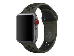 Apple 38mm Nike Sport Band - Uhrarmband - 130-200 mm - Schwarz, Cargo Khaki - für Watch (38 mm, 40 mm)