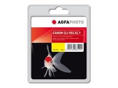 AgfaPhoto 11 ml - Gelb - wiederaufbereitet - Tintenpatrone (Alternative zu: Canon CLI-551Y XL, Canon 6446B001)