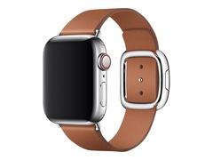 Apple 40mm Modern Buckle - Uhrarmband für Smartwatch - Größe L - Saddle Brown - für Watch (38 mm, 40 mm)