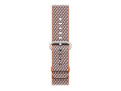 Apple 42mm Woven Nylon Band - Uhrarmband - 145 - 215 mm - scharfes Orange überprüft - für Watch (42 mm, 44 mm)
