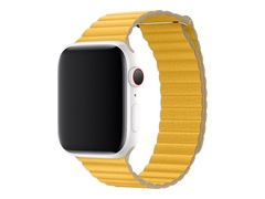Apple 44mm Leather Loop - Uhrarmband - Large - Meyer lemon - für Watch (42 mm, 44 mm)