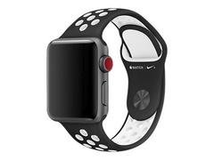 Apple 38mm Nike Sport Band - Uhrarmband - 130-200 mm - Schwarz, weiß - für Watch (38 mm)