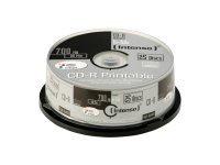 Intenso 25 x CD-R - 700 MB (80 Min) 52x - mit Tintenstrahldrucker bedruckbare Oberfläche