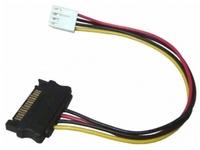 Exsys EX-K41910 - 0,4 m - Floppy (4-pin) - SATA 15-pin - Männlich/Männlich - Gerade - Gerade
