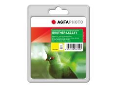 AgfaPhoto 11 ml - Gelb - Tintenpatrone (Alternative zu: Brother LC123Y)