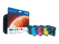 Brother LC-1100HY - 4er-Pack - Hohe Ergiebigkeit